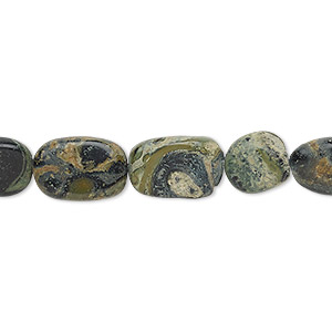 bead, kambaba jasper (natural), 9x8mm-13x10mm hand-cut flat oval, c- grade, mohs hardness 6-1/2 to 7. sold per 13-inch strand.