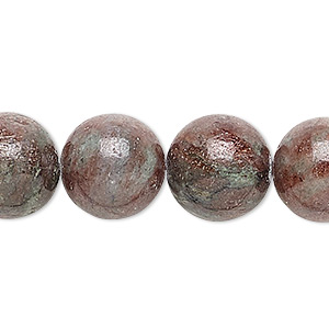 bead, kashgar garnet (natural), 14mm round, b grade, mohs hardness 7 to 7-1/2. sold per 16-inch strand.
