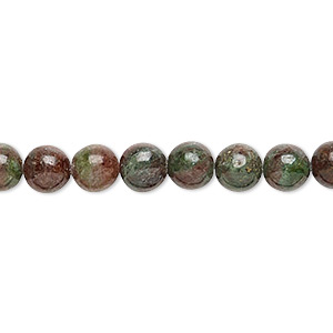 bead, kashgar garnet (natural), 6mm round, b grade, mohs hardness 7 to 7-1/2. sold per 16-inch strand.