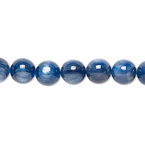 bead, kyanite (natural), 8mm round, a- grade, mohs hardness 4 to 7-1/2. sold per 16-inch strand.