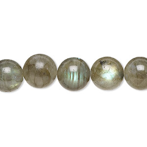 bead, labradorite (natural), 10mm round, b grade, mohs hardness 6 to 6-1/2. sold per 16-inch strand.