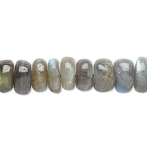 bead, labradorite (natural), 10x3mm-11x6mm hand-cut rondelle, b- grade, mohs hardness 6 to 6-1/2. sold per 14-inch strand.
