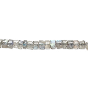 bead, labradorite (natural), 4x1mm-6x5mm hand-cut heishi, c grade, mohs hardness 6 to 6-1/2. sold per 13-inch strand.