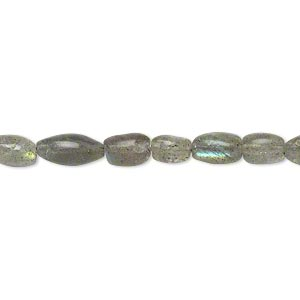 bead, labradorite (natural), 7x4mm-10x6mm hand-cut oval, c- grade, mohs hardness 6 to 6-1/2. sold per 13-inch strand.