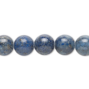 bead, lapis lazuli (dyed), 10mm round, d grade, mohs hardness 5 to 6. sold per 15-inch strand.