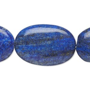 bead, lapis lazuli (dyed), 29x20mm-30x20mm puffed oval, c grade, mohs hardness 5 to 6. sold per 15-inch strand.