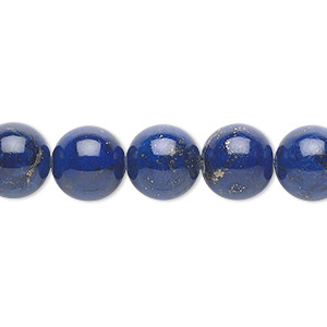 bead, lapis lazuli (natural), 10mm round, a- grade, mohs hardness 5 to 6. sold per 16-inch strand.