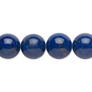 bead, lapis lazuli (natural), 12mm round, b grade, mohs hardness 5 to 6. sold per 16-inch strand.