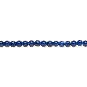 bead, lapis lazuli (natural), 3mm round, b grade, mohs hardness 5 to 6. sold per 16-inch strand.