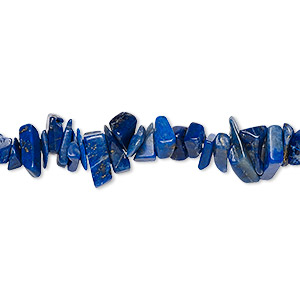 bead, lapis lazuli (natural), small chip, mohs hardness 5 to 6. sold per 36-inch strand.