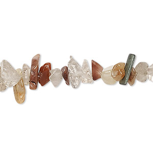 bead, lodolite (natural), small chip, mohs hardness 7. sold per 15-inch strand.