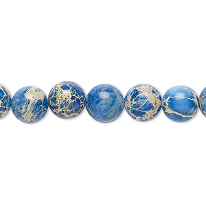 bead, magnesite (dyed / stabilized), lapis blue, 8mm round, b grade, mohs hardness 3-1/2 to 4. sold per 16-inch strand.