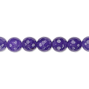 bead, malaysia jade (dyed), grape, 7-8mm faceted round, b grade, mohs hardness 7. sold per 15-inch strand.