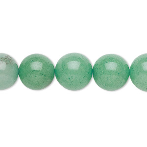 bead, malaysia jade (dyed), light green, 11-12mm round, c grade, mohs hardness 7. sold per 15-inch strand.