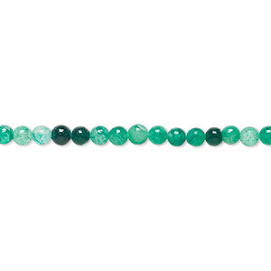 bead, malaysia jade (dyed), light to dark blue-green, 3mm round, d grade, mohs hardness 7. sold per 15-inch strand.