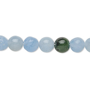 bead, malaysia jade (dyed), multicolored, 7-10mm round, d grade, mohs hardness 7. sold per 15-inch strand.