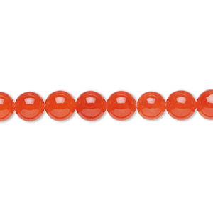 bead, malaysia jade (dyed), translucent watermelon, 6mm round, b grade, mohs hardness 7. sold per 16-inch strand.