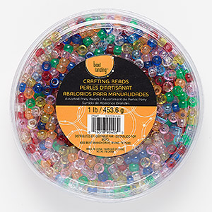 bead mix, bead landing™, plastic, transparent multicolored, 9x6mm pony with 3mm hole. sold per 1-pound pkg, approximately 1800 beads.