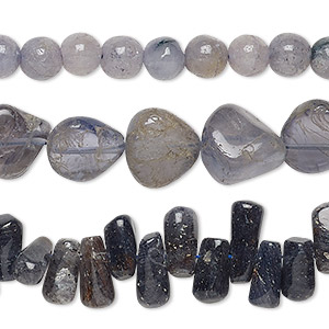 bead mix, iolite (natural), 7mm-16x8mm hand-cut mixed shape, d grade, mohs hardness 7 to 7-1/2. sold per 13-inch strand.