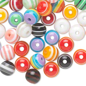bead mix, laminated acrylic, opaque and transparent mixed colors, 8mm round. sold per pkg of 100.