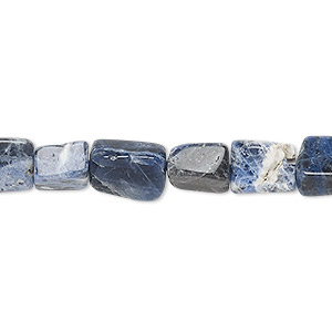 bead mix, sodalite (natural), 10x7mm-19x17mm hand-cut mixed shape, c grade, mohs hardness 5 to 6. sold per 13-inch strand.