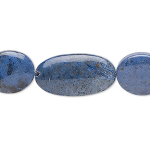 bead mix, sunset dumortierite (natural), 16x13.5mm / 19x13.5mm / 25x13mm flat oval, b grade, mohs hardness 6-1/2 to 7. sold per 8-inch strand, approximately 10 beads.