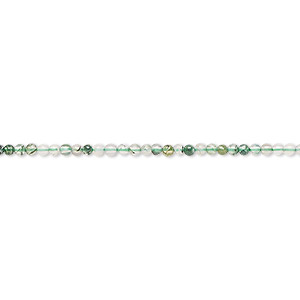 bead, moss agate (natural), 2mm round, b grade, mohs hardness 6-1/2 to 7. sold per 16-inch strand.