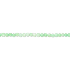 bead, mother-of-pearl shell (dyed), mint green, 2mm round. sold per 16-inch strand.