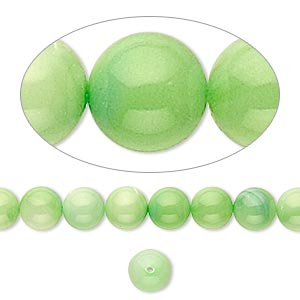 bead, mother-of-pearl shell (dyed), mint green, 6mm round. sold per 16-inch strand.