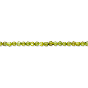 bead, mother-of-pearl shell (dyed), moss green, 2mm round. sold per 16-inch strand.
