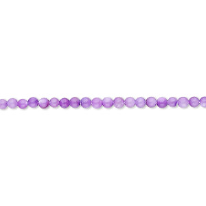 bead, mother-of-pearl shell (dyed), purple, 2mm round. sold per 16-inch strand.
