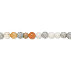 bead, multi-gemstone (natural / dyed / heated / irradiated / manmade), multicolored, 4-5mm round, d grade. sold per 15-inch strand. minimum 5 per order.