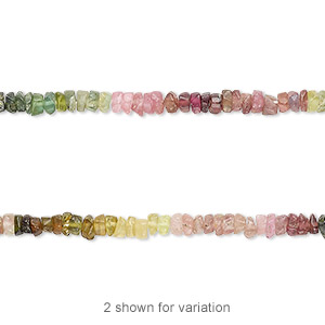 bead, multi-tourmaline (natural), matte, 2x1mm-3x2mm hand-cut tumbled faceted heishi, c grade, mohs hardness 7 to 7-1/2. sold per 12-inch strand.