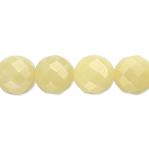 bead, olive new jade (natural), 12mm faceted round, b grade, mohs hardness 2-1/2 to 6. sold per 16-inch strand.