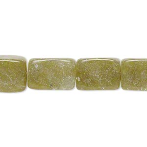 bead, olive new jade (natural), dark, small to medium tumbled nugget, mohs hardness 2-1/2 to 6. sold per 15-inch strand.
