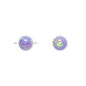 bead, opal (man-made), lavender, 8mm round with 0.9mm hole. sold individually.