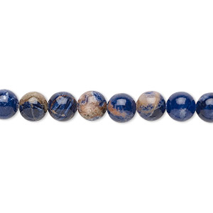 bead, orange sodalite (natural), 6mm hand-cut round with 0.5-1.5mm hole, b grade, mohs hardness 5 to 6. sold per 16-inch strand.