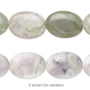 bead, peace jade (natural), 18x13mm oval, b grade, mohs hardness 6 to 6-1/2. sold per 16-inch strand.