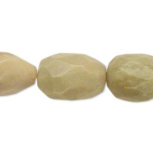 bead, peridot jasper (natural), medium hand-cut faceted nugget, mohs hardness 2-1/2 to 6. sold per 16-inch strand.