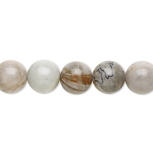 bead, picasso jasper (natural), 10mm round, b grade, mohs hardness 6-1/2 to 7. sold per 16-inch strand.