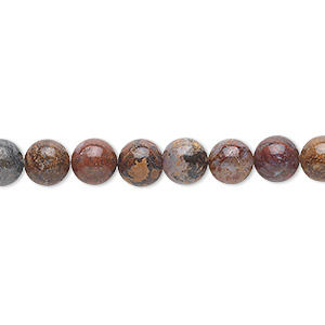 bead, pietersite (natural), 6mm round, b grade, mohs hardness 6-1/2 to 7. sold per 16-inch strand.