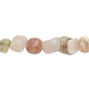 bead, pink lepidolite (natural), small pebble, mohs hardness 2-1/2 to 4. sold per 16-inch strand.
