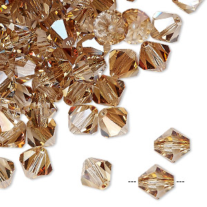 bead, preciosa czech crystal, crystal celsian, 8mm faceted bicone. sold per pkg of 144 (1 gross).