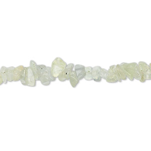 bead, prehnite (natural), small hand-cut chip, mohs hardness 6 to 6-1/2. sold per 36-inch strand.