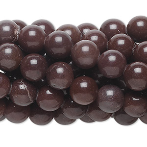 bead, purple aventurine (natural), 8mm round, c grade, mohs hardness 7. sold per pkg of (10) 16-inch strands.