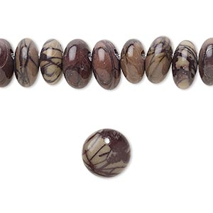 bead, purple creek stone (stabilized), 10mm top-drilled flat round, b grade, mohs hardness 3-1/2 to 4. sold per pkg of 20.