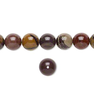 bead, purple creek stone (stabilized), 8mm round, b grade, mohs hardness 3-1/2 to 4. sold per 16-inch strand.