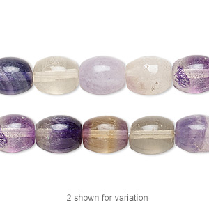 bead, rainbow fluorite (natural), 10x8mm oval, b grade, mohs hardness 4. sold per 16-inch strand.