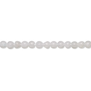 bead, rainbow moonstone (natural), 3-4mm hand-cut round, c grade, mohs hardness 6 to 6-1/2. sold per 13-inch strand.