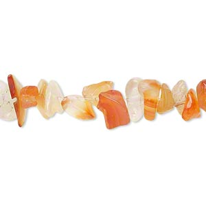 bead, red agate (natural / dyed / heated), small chip, mohs hardness 6-1/2 to 7. sold per 15-inch strand.